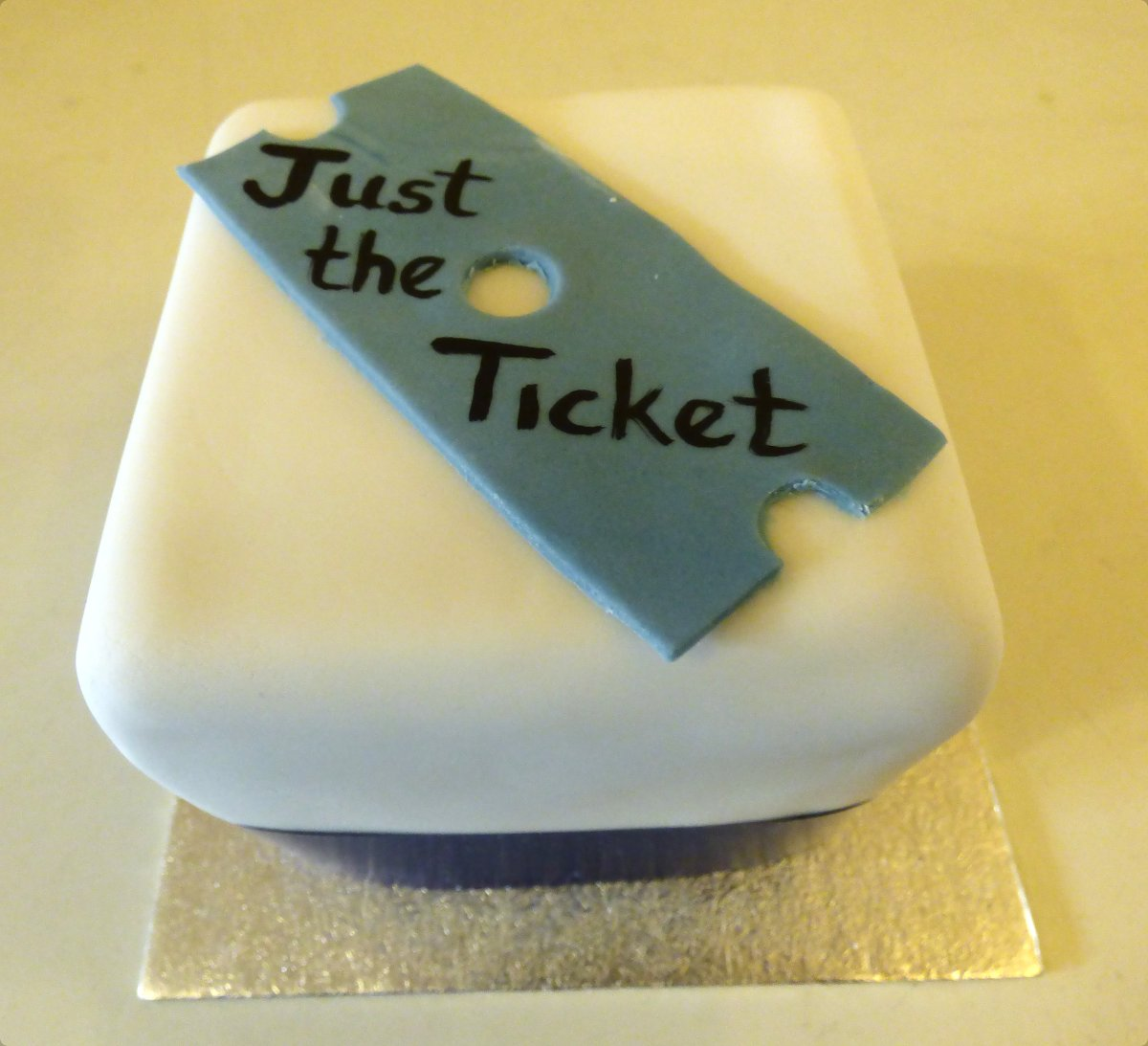 "Image of These cakes should be ""Just the Ticket"" for our customer"