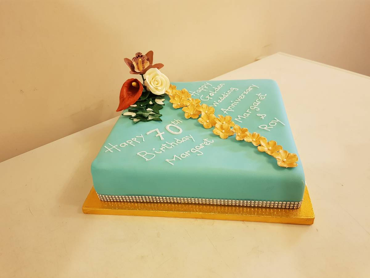 Image of Double Celebration Cake - Birthday and Anniversary