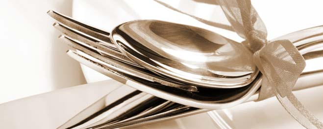An image of All the serving teams at your function are fully trained in silver service goes here.